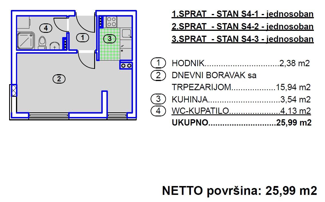 4 Stana, Stanovi tip S4, Travnik
